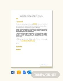 salary negotiation letter employee template word
