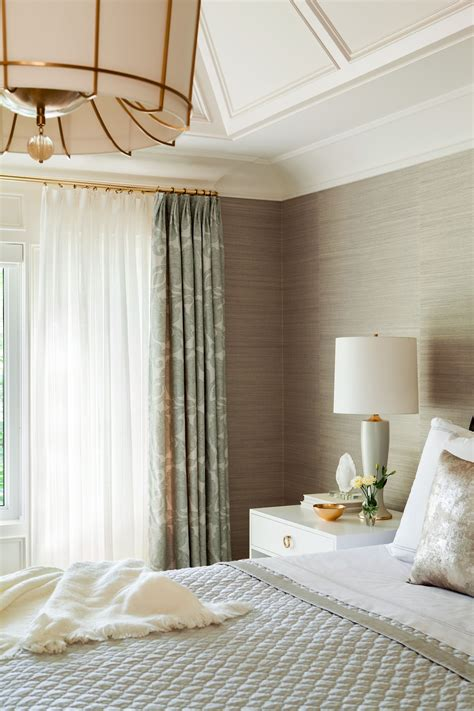 Bedroom Curtain Rods by Grasscloth Wallpaper Brass Curtain Rods Statement