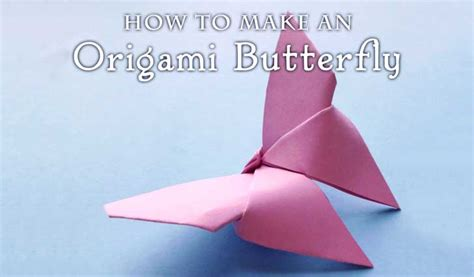 Make Easy Origami Butterfly - how to fold an origami butterfly woo jr activities