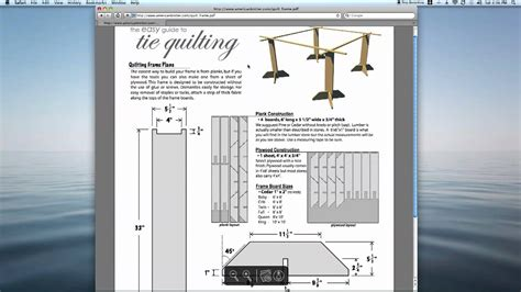 tie quilting frame plans easy  build