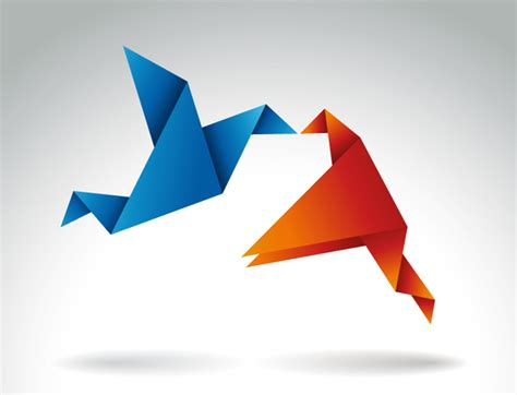 Birds Origami - collection of awesome origami birds icons free