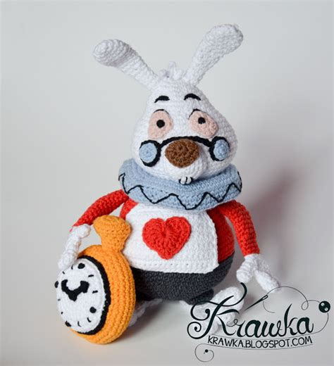 etsy rabbit pattern krawka white rabbit alice in wonderland etsy pattern