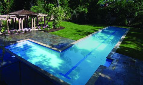 lap swimming pool residential pools and spas lap pools gallery