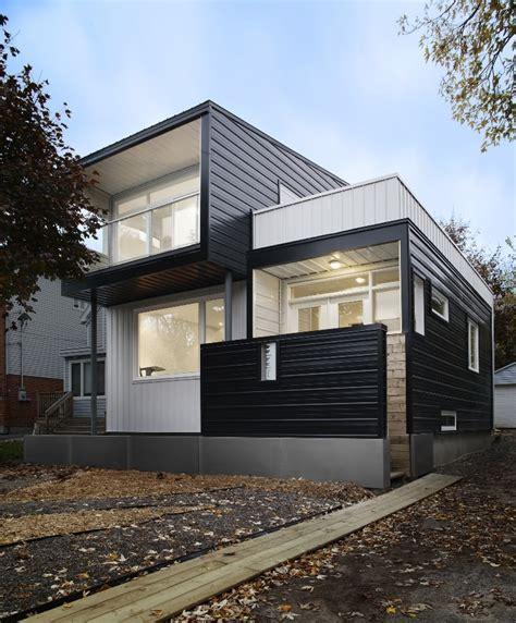 estructura de piedra en color blanco y negro fotograf 237 a de casa con fachada met 225 lica y construcci 243 n ligera
