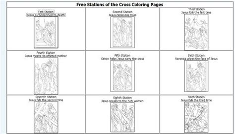 printable coloring pages for stations of the cross printable stations of the cross for children