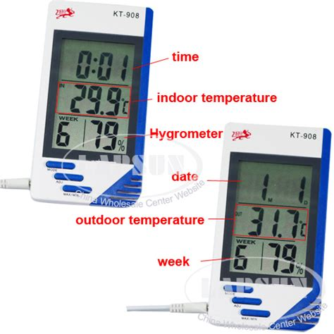 Thermometer Hygrometer Kt 908 Kt908 indoor outdoor digital thermometer hygrometer dual sensor max min alarm kt 908 ls hm236
