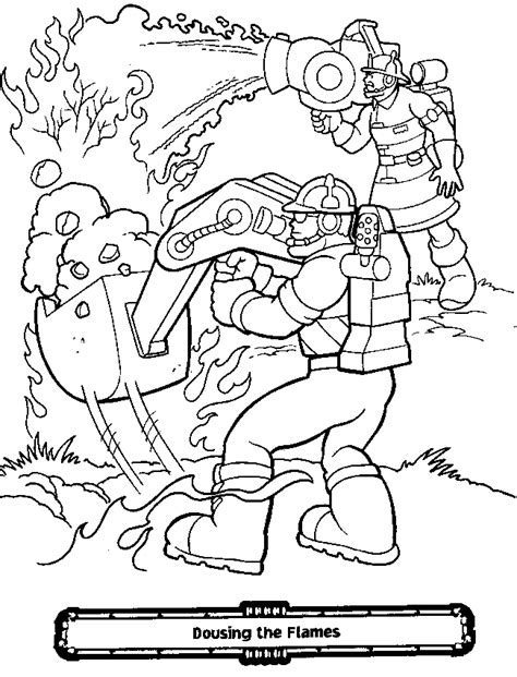 free coloring pages of rescue bots team
