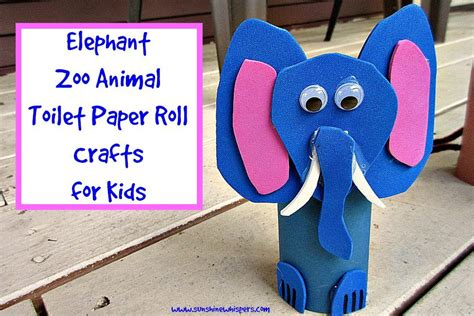 Toilet Paper Roll Crafts Animals - elephant zoo animal toilet paper roll crafts for