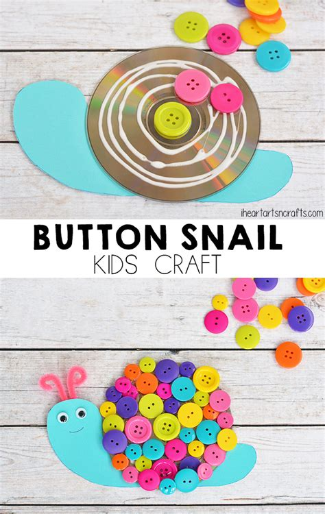 craft for kid button snail craft for i arts n crafts