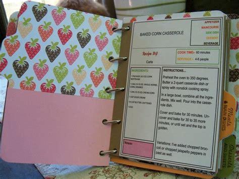 Handmade Recipe Book Ideas - scrapbook recipe card ideas furloughed time cookbook