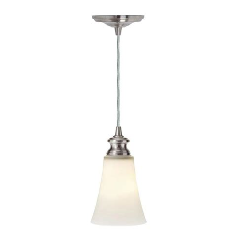 Home Decorators Collection Instant 1 Light Satin Opal And Instant Pendant Light