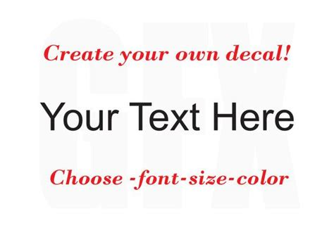 design your own font online free create your own decal choose your text font color