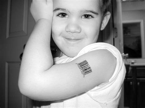barcode number tattoos by scott blake