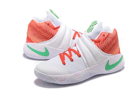 nike green and white basketball shoes nike kyrie 2 white orange green s basketball shoes