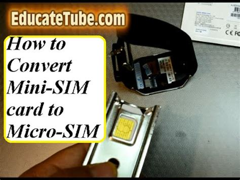 How To Convert Sim Card To Micro Sim Template by How To Convert Mini Sim Card To Micro Sim Card Quickly