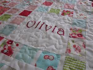 Name Quilt by Dandelion Quilts All Framed Up Baby Quilt