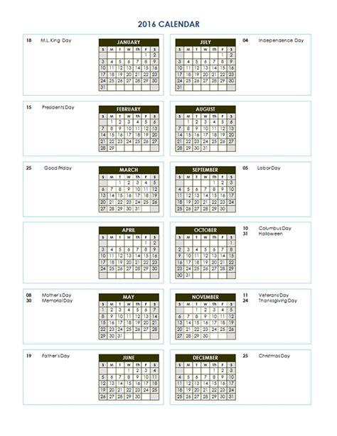 yearly calendar template   printable templates