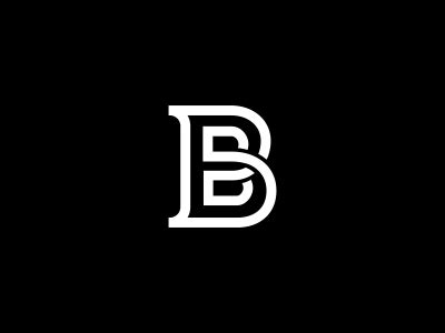b logo design by dalius stuoka dribbble