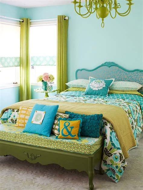 green and yellow bedroom green aqua turquoise and yellow bedroom pinterest