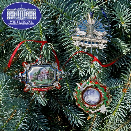 2013 white house christmas ornament collection set of three