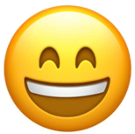 emoji happy a happy and smiling face with big open mouth showing