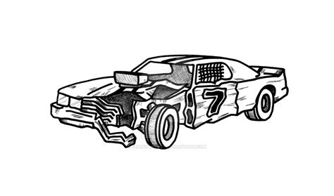 coloring pages of derby cars demolition derby car by francmotart on deviantart