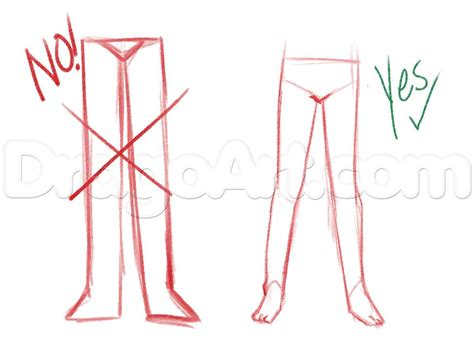 Drawing Legs by How To Draw Anime Legs Step By Step Anatomy