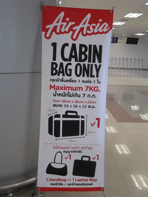 airasia baggage cabin how strict is airasia with 7kg carry on baggage air