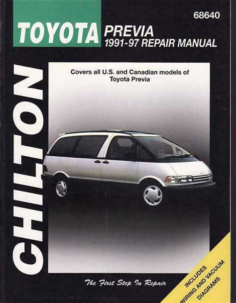 car engine manuals 1991 toyota previa electronic throttle control toyota tarago previa 1991 1997 workshop manual