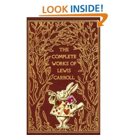 complete works  lewis carroll leatherbound classics amazoncom books vanilla