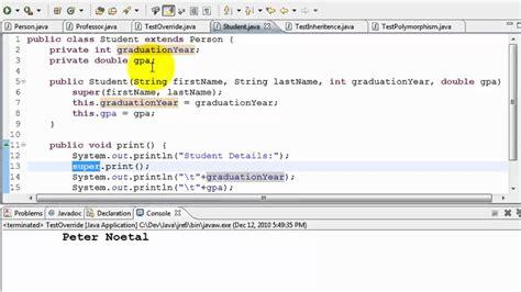 builder pattern java inheritance exle java tutorial inheritance and polymorphism youtube