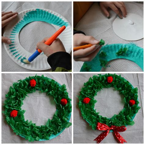 easy craft for paper plate wreath