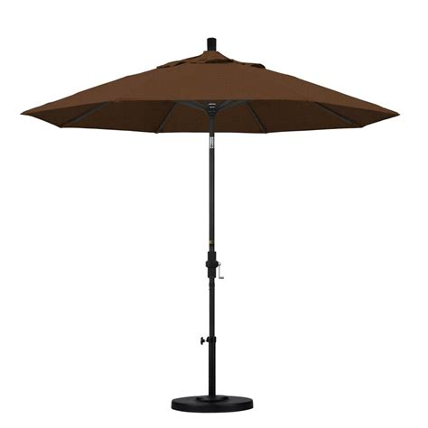 California Umbrella 9 Ft Aluminum Collar Tilt Patio Teak Patio Umbrellas