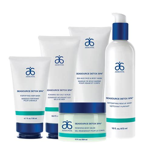 Arbonne Seasource Detox Spa Foaming Sea Salt Scrub by Express Set 9890 Arbonne Dive Into Detoxification