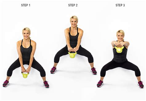 kettlebell squat swing thunder thighs no more it takes four weeks