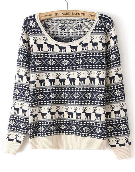 Deer Sweater deer pattern sweaters for 2018