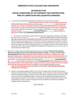 Sle Letter Of Demand For Liquidated Damages Construction Liquidated Damages Letter Template