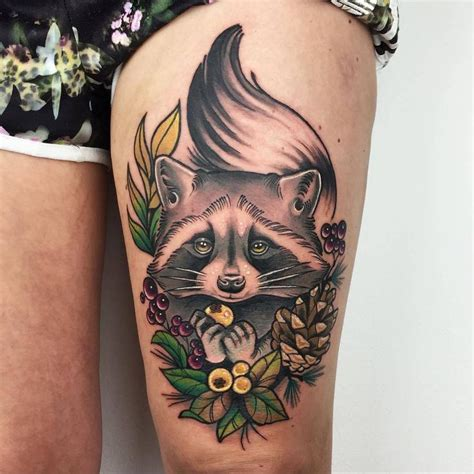 racoon tattoo best 25 raccoon ideas on
