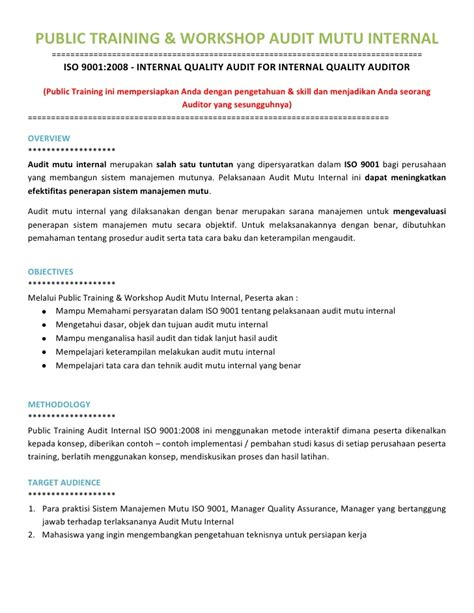 format laporan audit public training internal audit iso 9001 training internal