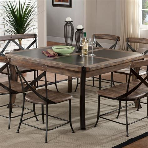 metal dining room table metal and wood dining room table 7753