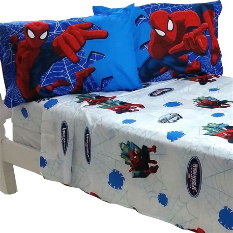 superhero comforter full 4pc marvel spiderman full bed sheet set superhero astonish