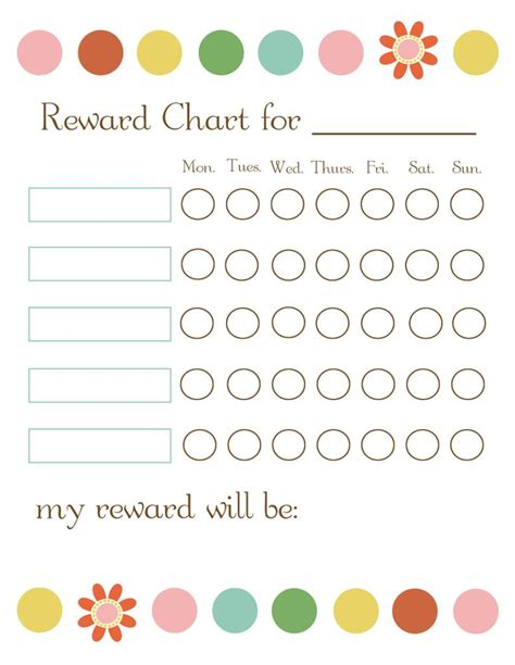 free printable weekly reward charts 11 best reward chart adhd images on pinterest rewards