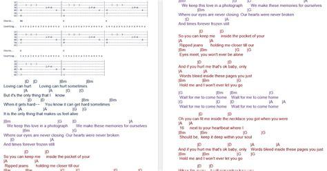 guitar tutorial of photograph talkingchord com ed sheeran photograph chords