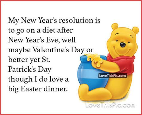 my new years resolution winnie the pooh quote pictures