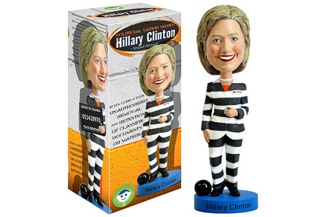 bobblehead company company claims they own rights for clinton prison bobblehead
