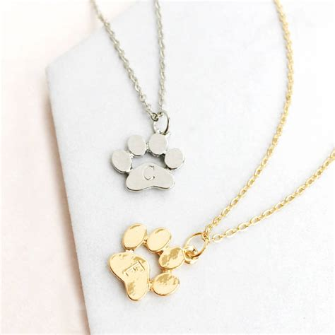 And Paw Necklace pet paw print necklace by eclectic eccentricity