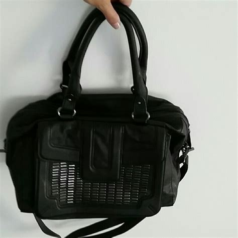 Zara Studded Hobo Bags Black 82 zara handbags zara black silver studded
