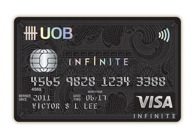 visa infinate credit cards uob visa infinte uob singapore