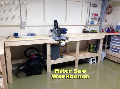 build miter saw bench miter saw workbench
