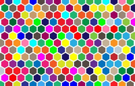 colorful pattern clipart colorful hex grid pattern 2